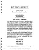 Tax Management Portfolios