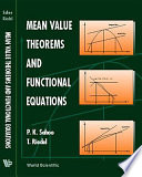 Mean Value Theorems and Functional Equations