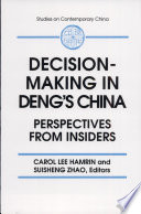 Decision Making In Deng S China