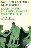 Early Greek Science