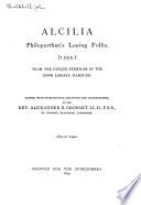 Alcilia  Philoparthen s Louing Follie