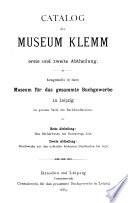 Katalog des Museum Klemm