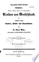 Topographisch-statistisch-historisches... Lexikon von Deutschland...