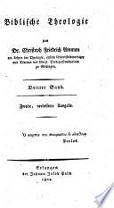 Entwurf einer reinen biblischen Theologie