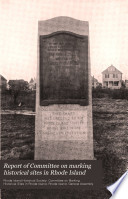 Report of Committee on Marking Historical Sites in Rhode Island