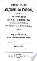 Latinsk-dansk Lexicon eller Ordbog