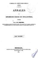 Annales de m  decine belge et   trang  re