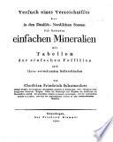 Versuch eines Verzeichnisses der in den dänischnordischen Staaten sich findenden einfachen Mineralien, mit Tabellen der einfachen Fossilien