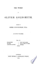 The Works of Oliver Goldsmith  Biographies  Reviews  Animated Nature  Cock Lane ghost  Vida s game of chess  Letters  Index