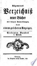 Allgemeines Verzeichniß neuer Bücher
