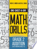 One Sheet A Day Math Drills book