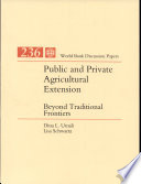 Public and Private Agricultural Extension