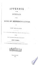 Appendix to the Journals of the House of Representatives of New Zealand Book PDF