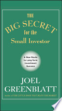 Ebook The Big Secret for the Small Investor Epub Joel Greenblatt Apps Read Mobile