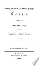 Georg Wilhelm Friedrich Hegel's Leben