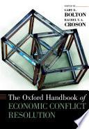 download ebook the oxford handbook of economic conflict resolution pdf epub
