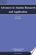 Advances in Alanine Research and Application  2013 Edition