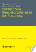Institutionelle Erneuerungsfähigkeit der Forschung
