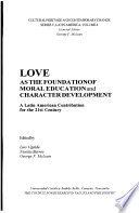 Love as the Foundation of Moral Education and Character Development Pdf/ePub eBook