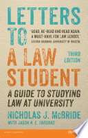 Letters to a Law Student 3rd edn