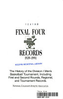 Final four records  1939 1991