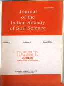 Journal Of The Indian Society Of Soil Science book