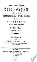 Topographisches Post Lexicon aller Ortschaften der k.k. Erbländer
