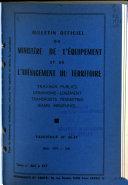 Bulletin Officiel du Ministere de l  Equipement et de l  Amenagement du Territoire