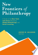 New Frontiers of Philanthropy