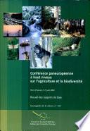 Conférence Paneuropéene à Haut Niveau sur l'Agriculture et la Biodiversité