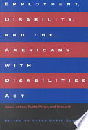 Employment  Disability  and the Americans with Disabilities Act