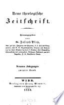 Neue theologische Zeitschrift. Hrsg. von Joseph Pletz