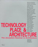 Technology  Place  and Architecture Book PDF