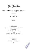 Chroniken der deutschen städte vom 14. bis in's 16. jahrhundert ...