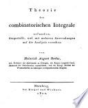 Theorie der combinatorischen Integrale