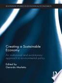 Creating A Sustainable Economy book