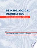 Psychological Debriefing Book PDF