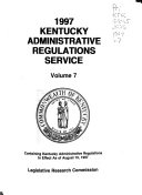 Kentucky Administrative Regulations Service