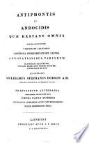 Antiphon et Andocides.-t. 2. Lysias.-t. 3. Isocrates.-t. 4. Isaeus et Dinarchus etc.-t. 5-11. Demosthenes.-t. 12. Aeschines.-t. 13. Antiphontis, Andocidis et Lysiae interpretatio latina.-t. 14. Isocratis, Isaei Dinarchi, Lycurgi, Demadis et sophistarum interpretatio latina.-t. 15. Demosthenis interpretatio latina.-t. 16. Demosthenis et Aeschinis interpretatio latina