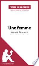 Une femme d Annie Ernaux  Fiche de lecture