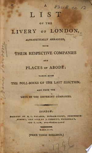 A List of the Livery of London, etc