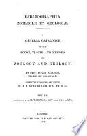 Bibliographia Zoologiae Et Geologiae