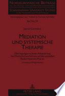 Mediation und systemische Therapie