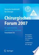 Chirurgisches Forum 2007 für experimentelle und klinische Forschung