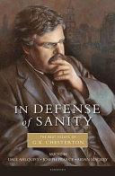 In Defense Of Sanity Pdf/ePub eBook