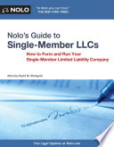 Nolo s Guide to Single Member LLCs