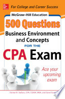 McGraw Hill Education 500 Business Environment and Concepts Questions for the CPA Exam