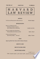 Harvard Law Review: Volume 127, Number 5 - March 2014