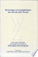 Du lexique    la morphologie