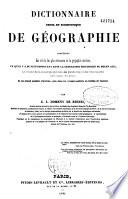 Dictionnaire usuel et scientifique de g  ographie